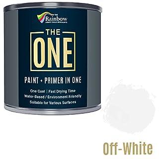 One Paint, One Coat, Multi Surface Paint for Wood, Metal, Plastic, Interior, Exterior, Off-White, MATT, 250ml