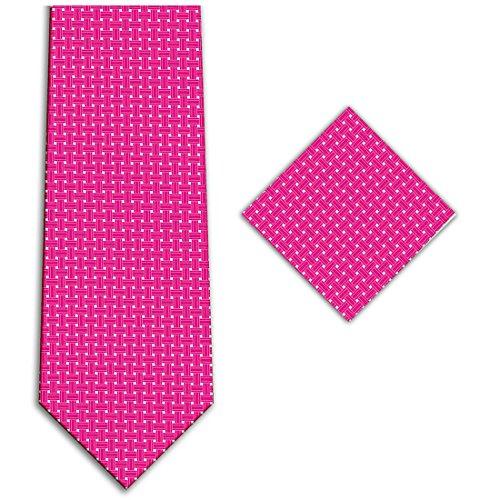 Kissties - Boite à cravate - À Carreaux - Homme Fushia Pink