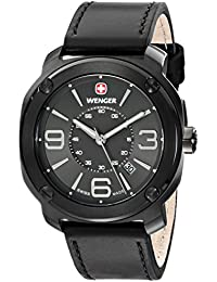 Wenger Herren-Armbanduhr XL Escort Analog Quarz Leder 01.1051.108