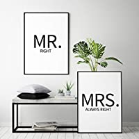 typolove - Typo Poster Set: Mr. right & Mrs. always right