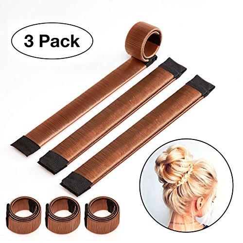 Original Dutt Maker Haarteil - Dutt Twister - 3x Set (braun)