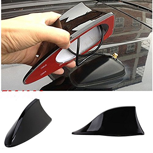 Motoway Car Shark Fin Roof Antenna Radio FM/AM Car Accessories Decorate Black For Maruti Suzuki Celerio