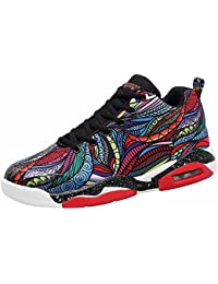 Hombres Baloncesto Zapatillas Otoño Invierno Nuevo Pareja Colchón De Aire Zapatos Atléticos Respirable Unisexo Zapatos Para Correr Size 35-47 ( Color : Mixed color , Size : 47 )