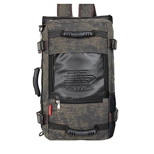 Yinggg tela zaino da uomo casual Daypacks borsa da viaggio per escursionismo/campeggio/all' aperto Dark Brown