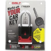 BOLT 7018518 Padlock for late model Buick, Cadillac, Chevrolet, GMC, Hummer, Pontiac and Saturn Keys by BOLT