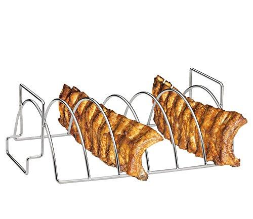 Küchenprofi 1066532800 BBQ-Spare-Ribs und Braten-Rack, Edelstahl, 38 x 25,5 x 12,5 cm (Braten-rack Edelstahl)
