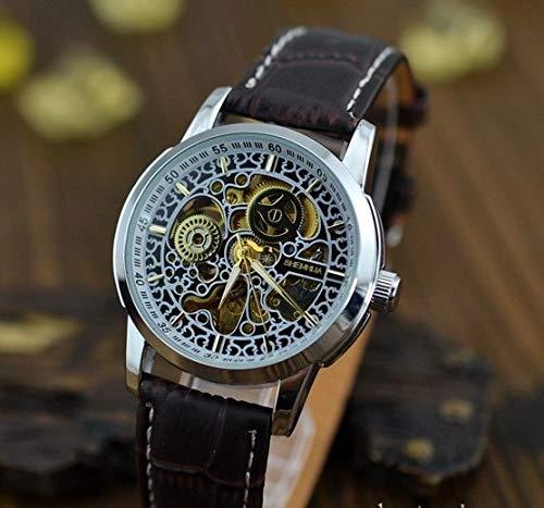SJXIN Orologio meccanico di alta qualità, Shenhua/orologio da donna con cinturino meccanico automatico (Color : 1)