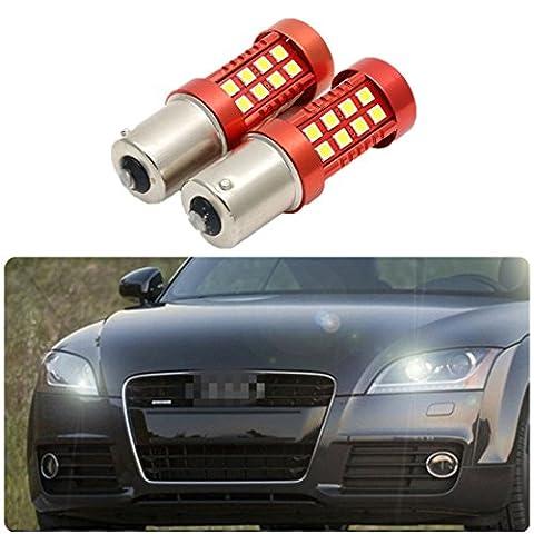 FEZZ Auto LED Ampoules S25 BA15S 1156 3030 36SMD CANBUS DRL Feux de Jour