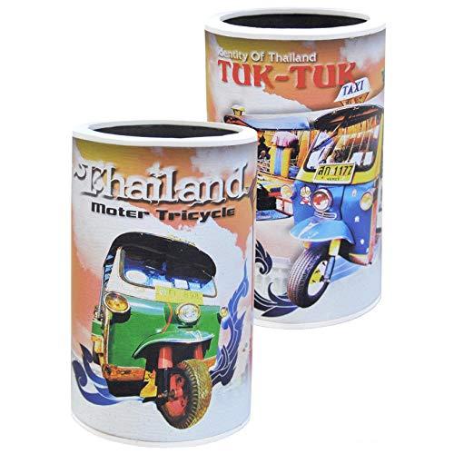 Wilai Flaschenkühler Bierkühler Dosenkühler Getränkekühler Bierflaschen Cooler ***Thailand - Tuc-Tuc - Thai Boxing - Elefanten*** Fünf Verschiedene Motive erhältlich (70282 (Tuc-Tuc)) -