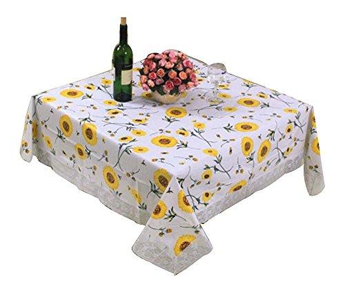 Black temptation elegante bella tovaglia/tovaglie quadrate decorative, girasole, 54x54