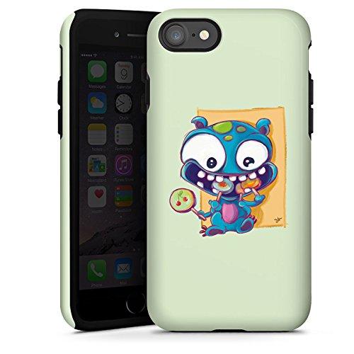 Apple iPhone X Silikon Hülle Case Schutzhülle Monster Bonbons Kinder Tough Case glänzend