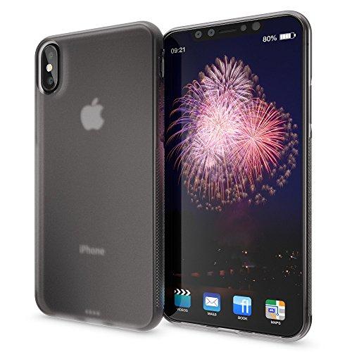 Apple iPhone X Coque Protection de NICA, Housse Silicone Portable Mince Souple, Tele-Phone Case Anti-Derapante Cover Premium, Incassable Ultra-Fine Resistante Bumper Etui pour iP-X, Couleur:Gris Gris