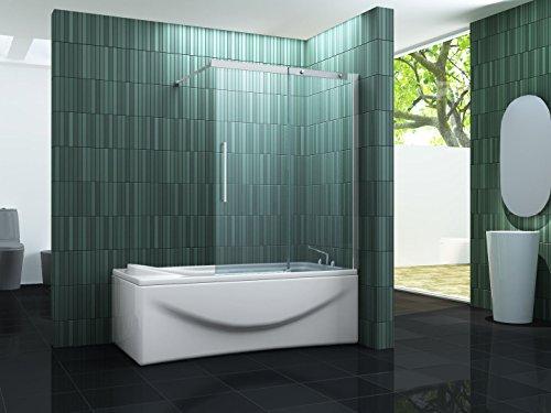 Schiebetür-Duschtrennwand BATCH 120 x 150 (Badewanne)