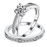 Sreema London 925 Sterling Silver Solitaire Tapering Migraine Women