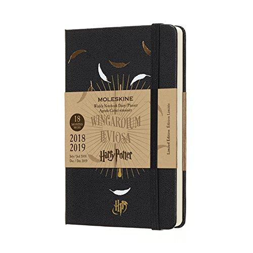 Moleskine. 18 month weekly notebook. Limited edition Harry Potter black pocket