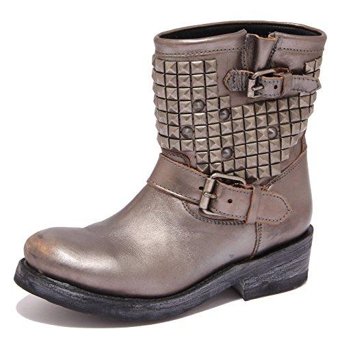 6170R stivale donna ASH TITAN scarpa biker metal piombo boot shoe woman [38]