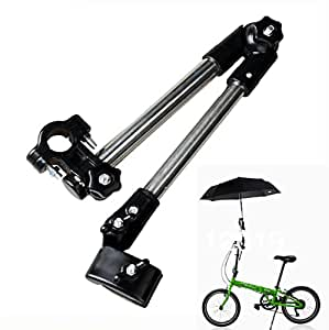Schirmhalter für Fahrrad, Kinderwagen, Rollator, Rollstuhl, Golftrolleys, Steckerhalter, Halterung