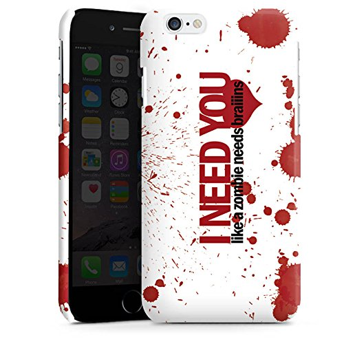 Apple iPhone 4 Housse Étui Silicone Coque Protection Love Zombie Phrases Motif Cas Premium brillant
