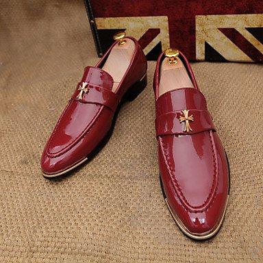 Chaussures d'hommes Mariage / Carrière / Office Party & Soir Loafers noir / bleu / jaune / rouge Black