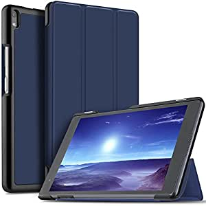 IVSO Lenovo Tab 4 8 PLUS Cover Custodia - Slim Smart Cover Custodia Protettiva in pelle PU per Lenovo Tab4 8 Plus TB-8704X Tablet, Blu