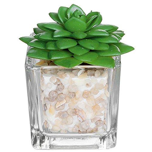 Piccolo Cubo Di Vetro Pianta Artificiale Modern Home Decorin Vasi