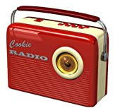 Blechdose Keksdose und Deko Box Retro Cookie Radio in Rot 25,5×18,5×9,9 cm - 2