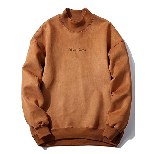 VENMO Herren Winter Fashion schlank gestaltetes Top strickjacke Mantel Sweatshirt kapuzenpullover sweatshirt mit kapuze streifenpullover outdoorjacken wollpullover rollkragenpullover (Khaki, L) (Pullover Kapuzen Vintage)