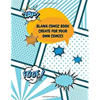 Blank Comic Book Create For Your Own Comics: Templates Of Fun Draw Your Own Comics - Express Your Kids or Teens Talent and Creativity with This Lots ... Large Print 8.5 x 11 Inch 105 Pages (Vol.20)