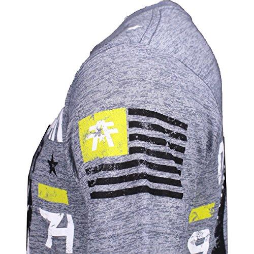 Der Macalaster Grafik T Shirt der American Fighter Männer Grau