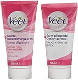 Veet Gesicht Haarentfernungs-Creme Set für sensible Haut mit Aloe Vera und Vitamin E, 1er Pack (1 x 1 Stück)