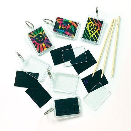 lanhänger - Regenbogenfarbe - Scratch Art für Kinder zum Basteln (6 Stück) ()