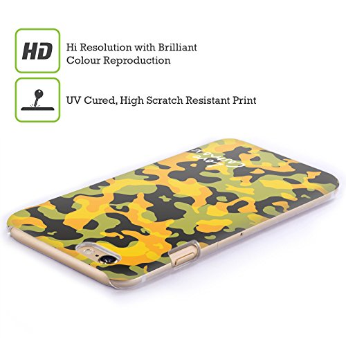 Official Cosmopolitan Pastel Camo Hard Back Case for Apple iPhone X Yellow Green
