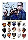 Metallica Design A Gold Guitar Médiator Pick Display (Limited to 50)