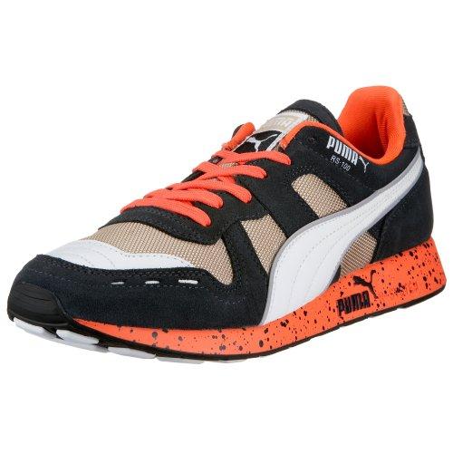 ,  Herren Casual , - Navy-White-Orange - Größe: 9 UK (Puma Schuhe Größe 9)