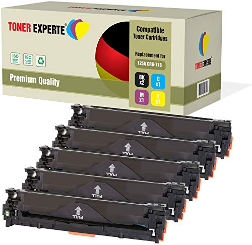 TONER EXPERTE® 5 Premium Toner kompatibel zu 716 125A CB540A CB541A CB542A CB543A für HP Laserjet CM1312 CM1312nf CM1312nfi CP1215 CP1217 CP1514n CP1515n CP1518ni Canon LBP5050 MF8050Cn MF8080Cw -