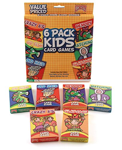 other board games cards bicycle classic kid s card games 6 pack