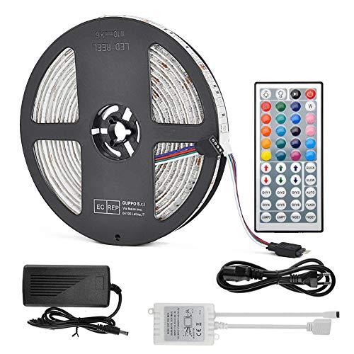 Alexa Ruban LED RVB SMD5050 avec télécommande et transformateur 300 LED RVB 5 m Pour éclairage de Noël dans la cuisine, chambre, salon, veilleuse à intensité variable