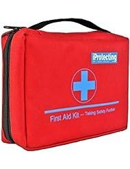 Botiquín de primeros auxilios de 119 piezas - Bolsa de supervivencia para emergencias, Diseño profesional para el coche, hogar, camping, caza, viajes, aire libre o deportes, pequeño y compacto