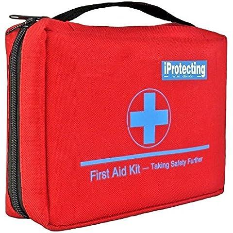 Botiquín de primeros auxilios de 119 piezas - Bolsa de supervivencia para emergencias, Diseño profesional para el coche, hogar, camping, caza, viajes, aire libre o deportes, pequeño y