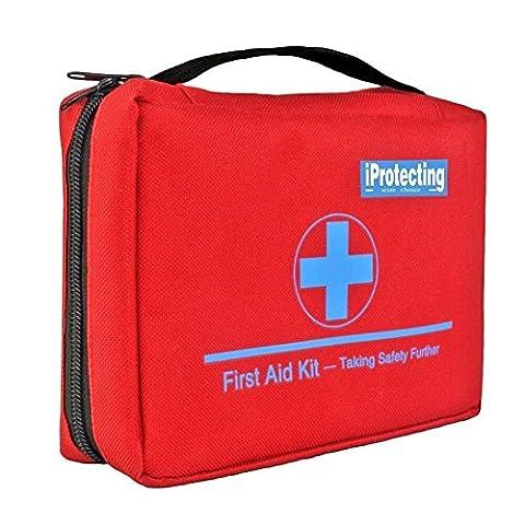 Kit de premier secours 119 pcs - Sac de survie d'urgence, Designer pour la voiture, la maison, Camping, Chasse, Voyage, Plein air ou Sports, Petit et compact