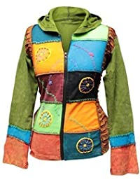 Shopoholic De Moda Para Dama Multicolor Rueda Bordado Hippie Chaqueta Boho Suéter
