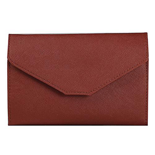 erthome Neutral Multi-Purpose Travel Passport Wallet Tri-fold Document Organizer Holder Tasche Kosmetiktasche Geldbörse Abendtasche Lässig Tasche (Kaffee)