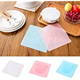 Pinkdose® White: Kitchen Food Grade Keeping Food Fresh Saran Wrap Silicone Food Wraps Seal Vacuum Cover Stretch Lid #251395