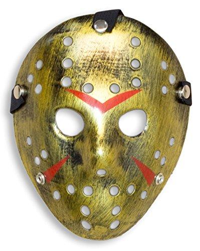 HOMETOOLS.EU - Halloween Maske | Kostüm Horror Hockey Myers Maske | Shabby Gold (Maskerade Maske Kostüm Ideen)