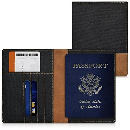 kwmobile-custodia-per-passaporto-documenti-e-carte-di-credito-in-pelle-sintetica-e-canvas-colore-ner