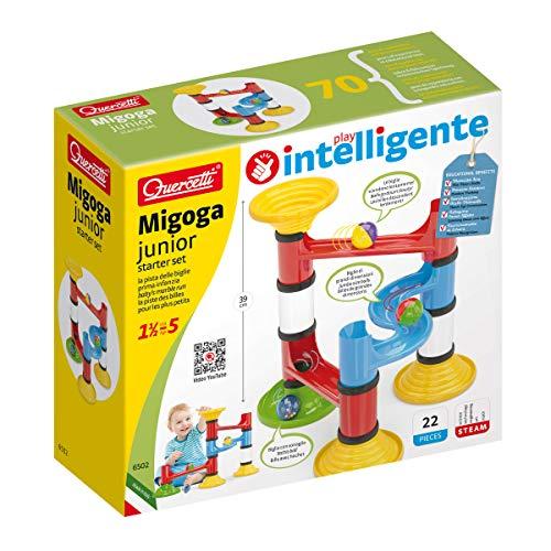 Quercetti Migoga Junior Gioco con Pista per Biglie Multicolore 22 Pezzi 6502
