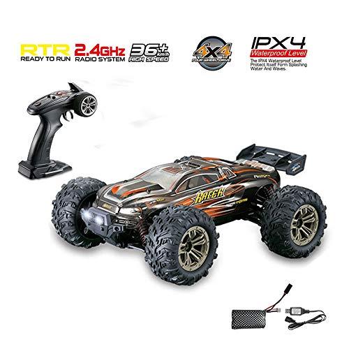 RC Auto Fernbedienung Steuerung Offroad Fahrzeug 2,4 GHz Maßstab 1:16 4WD 36 + km/h Wasserdicht Niveau IPX4 LKW Buggy zum Kinder und Erwachsene passen zum alle Terrain