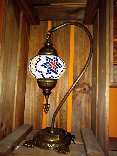 Turkish Lampe / Marokkanische Lampe Tiffany Stil Glas Schreibtisch Tisch Lampe - G14 -