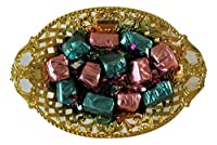 Boss The Choco Delights Ovelcarving (130gms) Gold Colour Chocolate Gift Tray