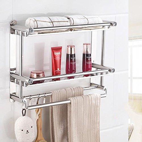 Du-YanTing Badezimmer Handtuchhalter - Free Flush Edelstahl Lagerregal/Bad Rack/Wand Double Verdickung (größe : B) -